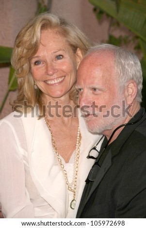 Brenda King and Richard Dreyfuss  at 'Smiles from the Stars - A tribute to the Life and work of Roy Scheider'. Beverly Hills Hotel, Beverly Hills, CA. 04-04-09