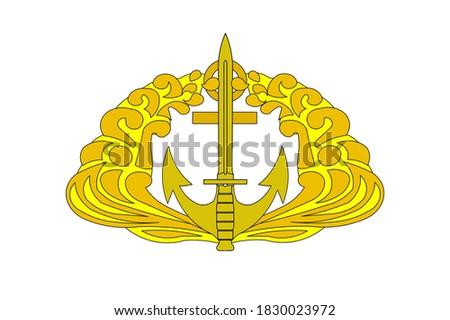 brevet komando marinir TNI AL Zdjęcia stock ©