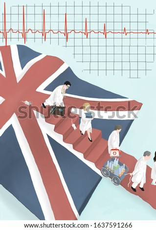 Brexit - doctors and scientists are leaving the UK Stock fotó ©