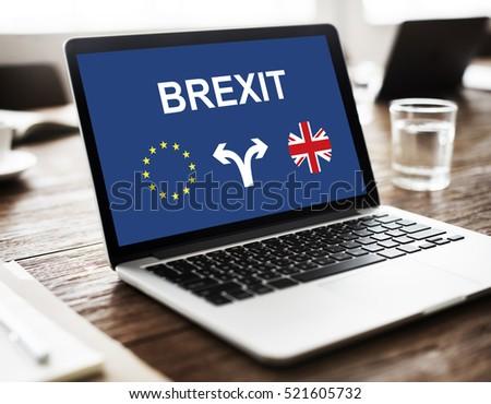 Brexit England European Flag Arrow