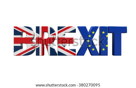 Brexit Text Isolated
