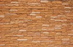 Brick background, wall or texture of orange blocks