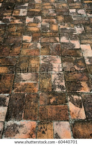 brick block pavement