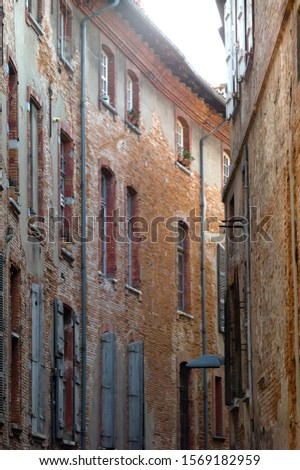 Brick facades of Toulouse, France #1569182959