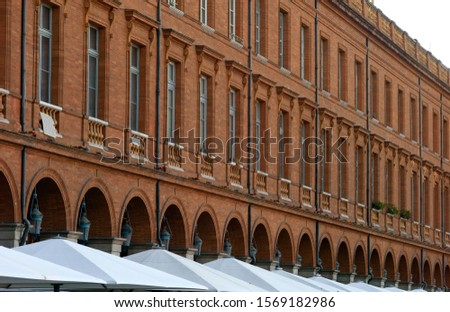 Brick facades of Toulouse, France #1569182986