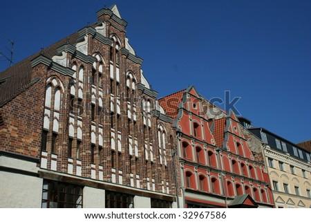 Brick Gothic Facade in Stralsund Germany