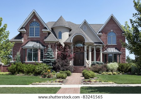 2 Story Houses with Brick and Rock