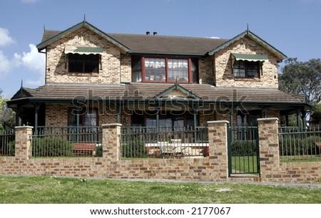 Brick Mansion, Villa With Clear Blue Sky Background, Sydney, Australia