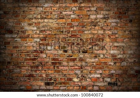 Brick old wall texture or background