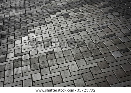 Brick Sidewalk - Geometric Pattern Stock Photo 2479935 : Shutterstock