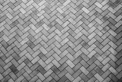 brick paving stones on a sidewalk background texture