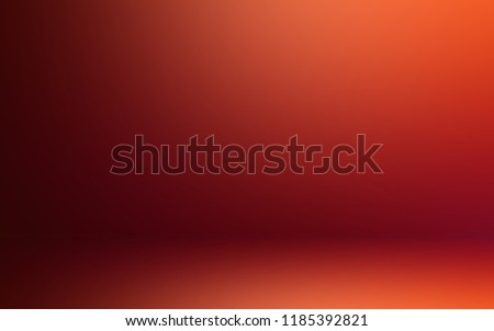 Brick-red background studio. 3d room. Abstract background.