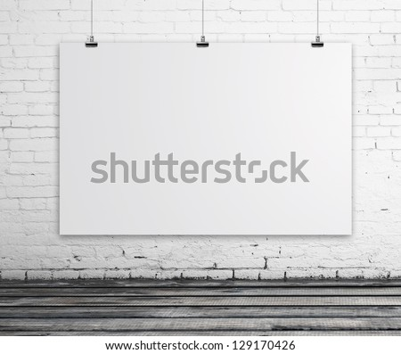 Brick Room With White Poster