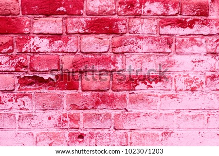 Brick texture with scratches and cracks #1023071203