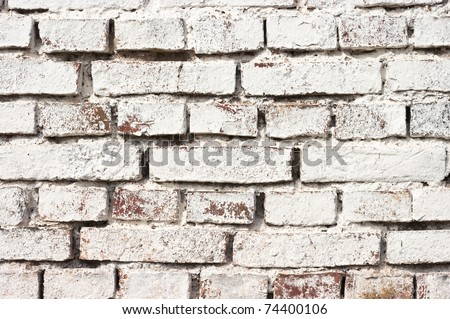 Brick texture with white average bricks