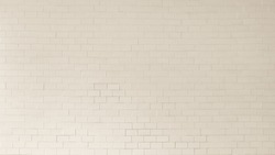 Brick tile wall porcelain texture background in white pastel cream beige brown color