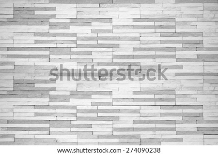 Brick tile wall texture pattern background in white grey color tone with vignette