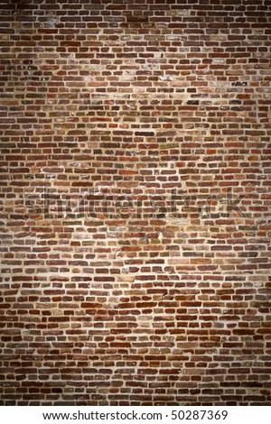 Brick wall - ancient fortress - stock photo