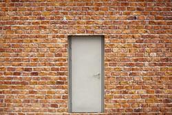 Brick Wall And Doors