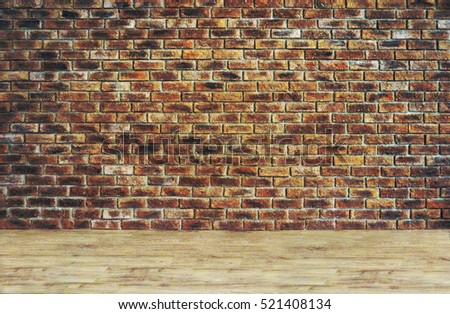 Shutterstock Brick wall and flor