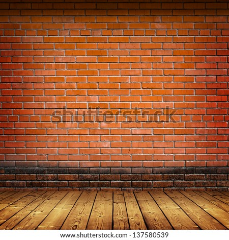 brick wall and wood floor texture interior