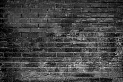 brick wall background in black and white color.