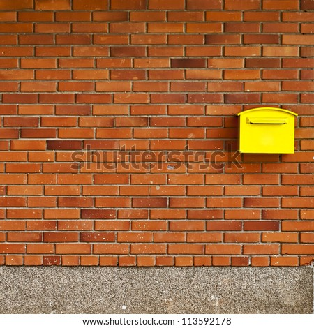 brick wall background, post office