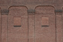 Brick wall background with arches