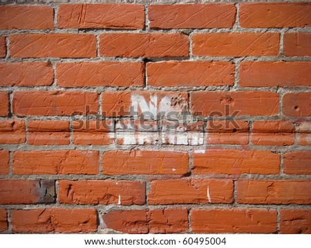 Brick wall background with paint