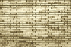 Brick wall, brown brick wall background. Texture brick wall, sepia tones applied
