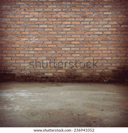 brick wall construction design of vintage background
