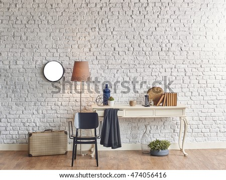 brick wall horizontal banner vintage case winter style