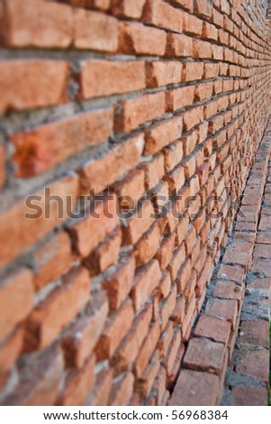 Brick wall in building home