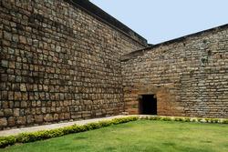 brick wall of bangalore fort