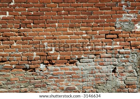 Brick wall on the power house at Bodie California