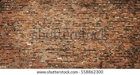 brick wall texture grunge urban street background #558862300