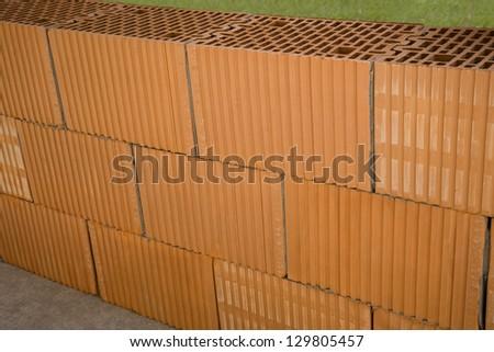 brick wall under construction