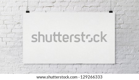 brick wall with crafted poster