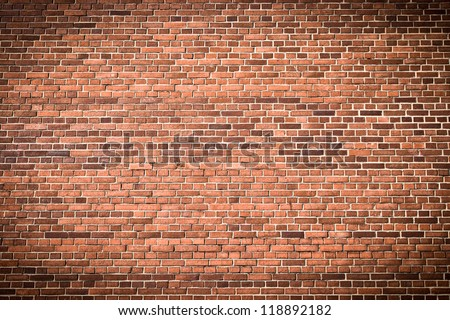 Brick wall with gradient for background usage