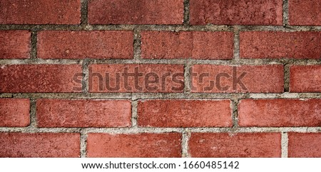 Brick wall with red brick, red brick background. Stock photo ©
