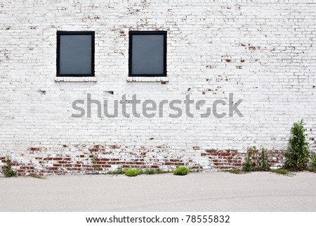 brick wall with windows background