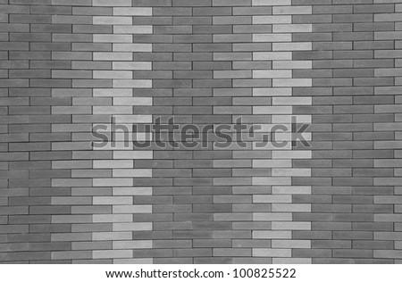 Brick walls, black and white. Modern brick walls, beautiful black and white.