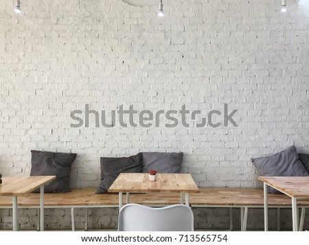 Brick white wall, Background.