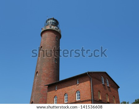 Bricked lighthouse at Darsser Ort, Baltic sea, Germany
