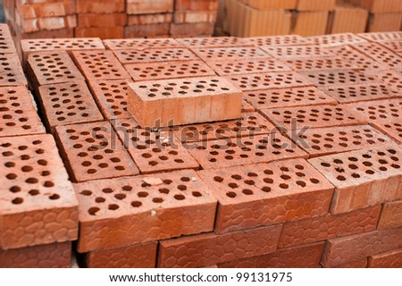 bricks and blocks stacked on pallets