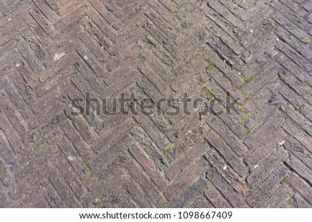 Bricks in Zigzag pattern #1098667409