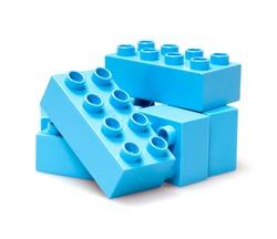 bricks isolated on white