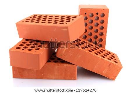 bricks, isolated on white