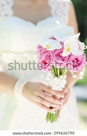 bridal bouquet of orchids