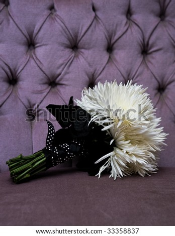 Bridal bouquet, photographed in the bridal suite.